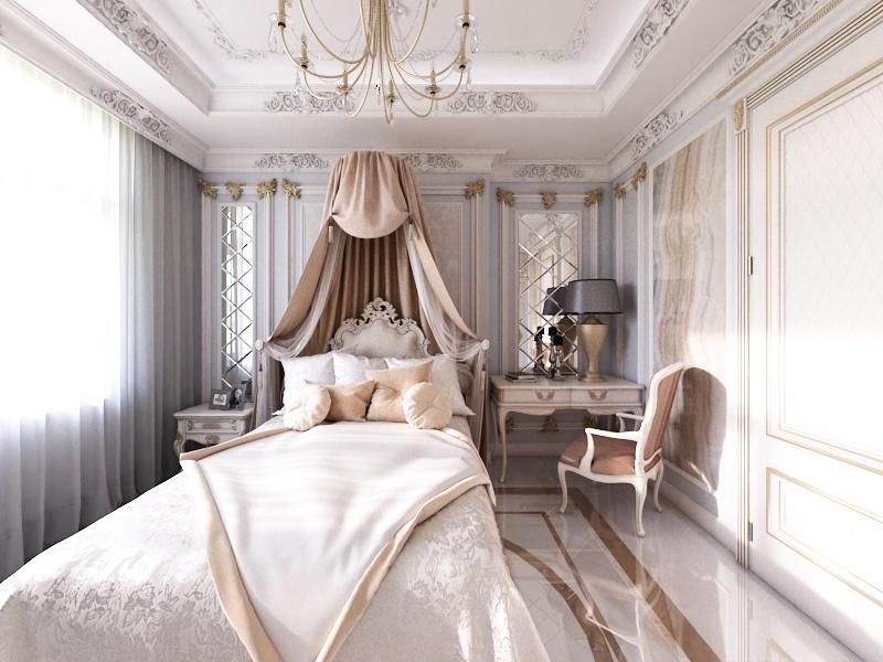 Готовый дизайн-проект квартиры в классическом стиле - объект 1.