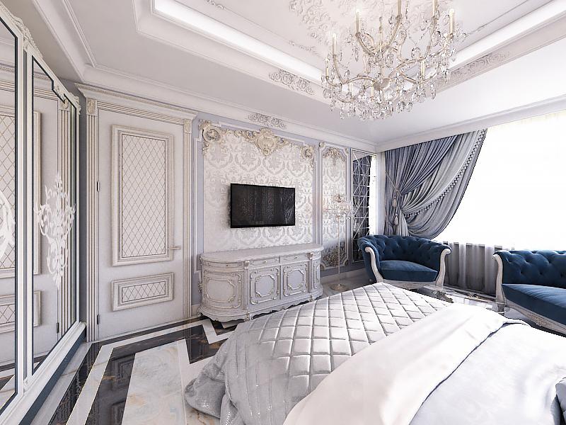Готовый дизайн-проект квартиры в классическом стиле - объект 2.