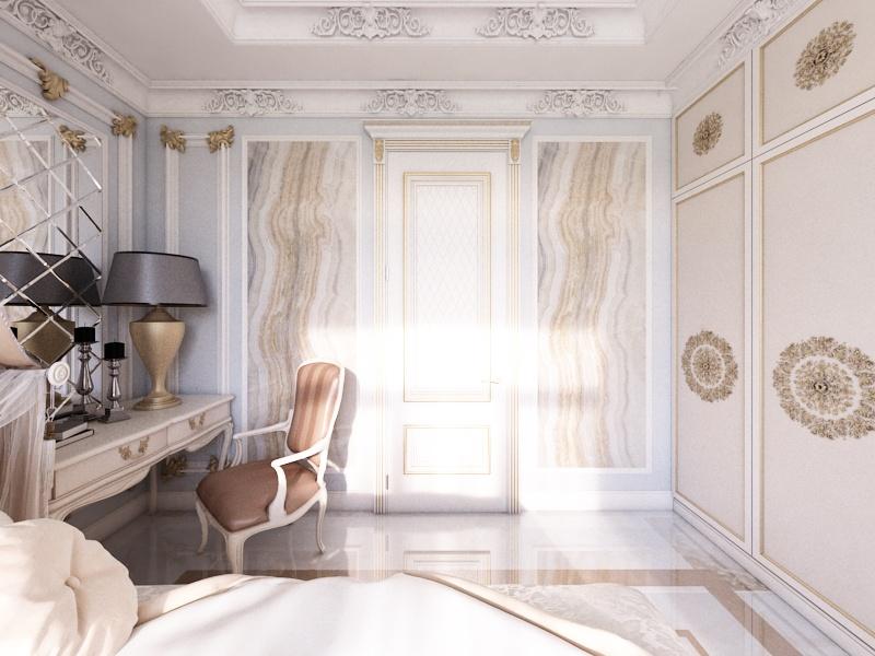 Готовый дизайн-проект квартиры в классическом стиле - объект 3.