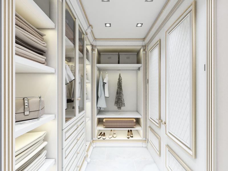 Готовый дизайн-проект квартиры в классическом стиле - объект 4.